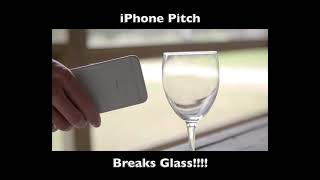 Iphone BREAKS GLASS with Dog whistle APP (High Frequency)