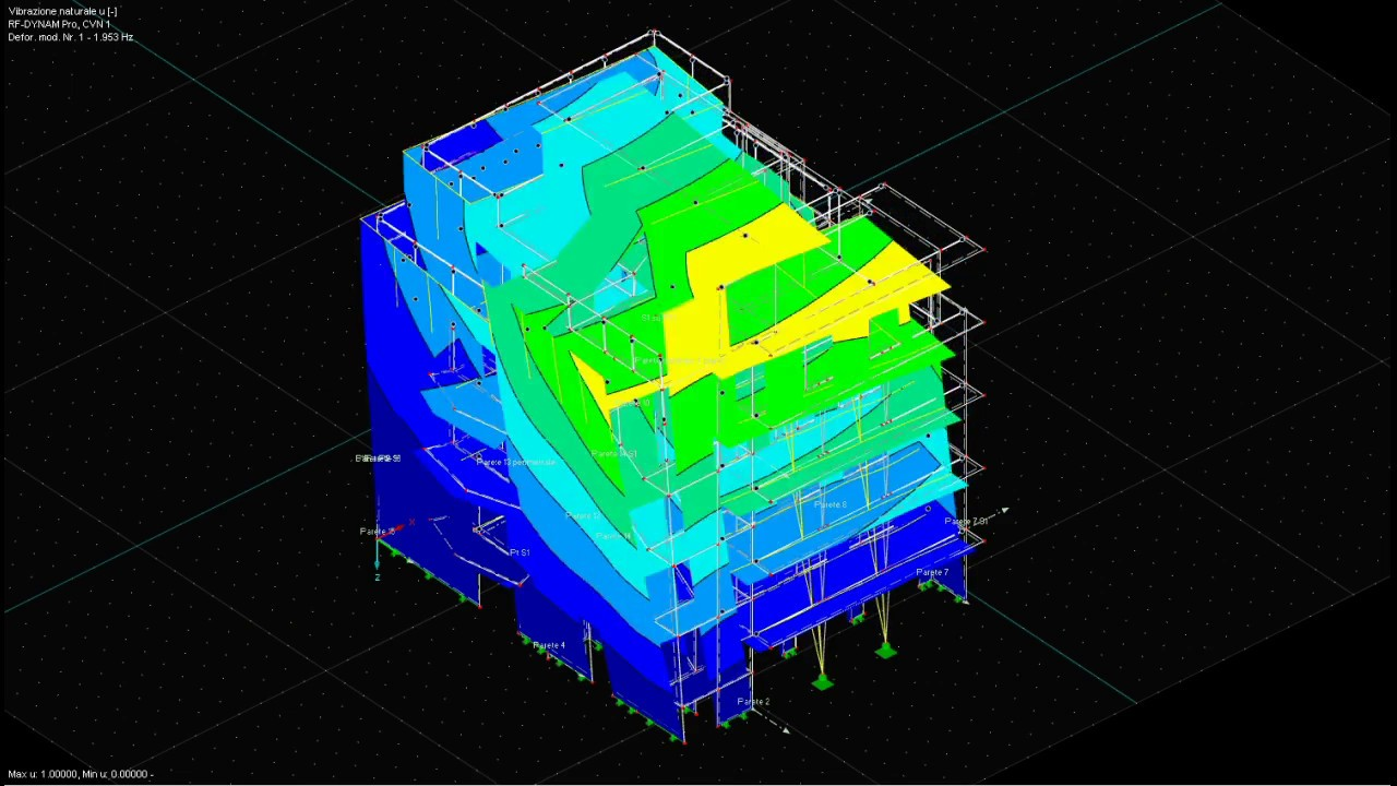 FEM Dynamic Analysis of a 6-storey CLT timber building - Eigenmode