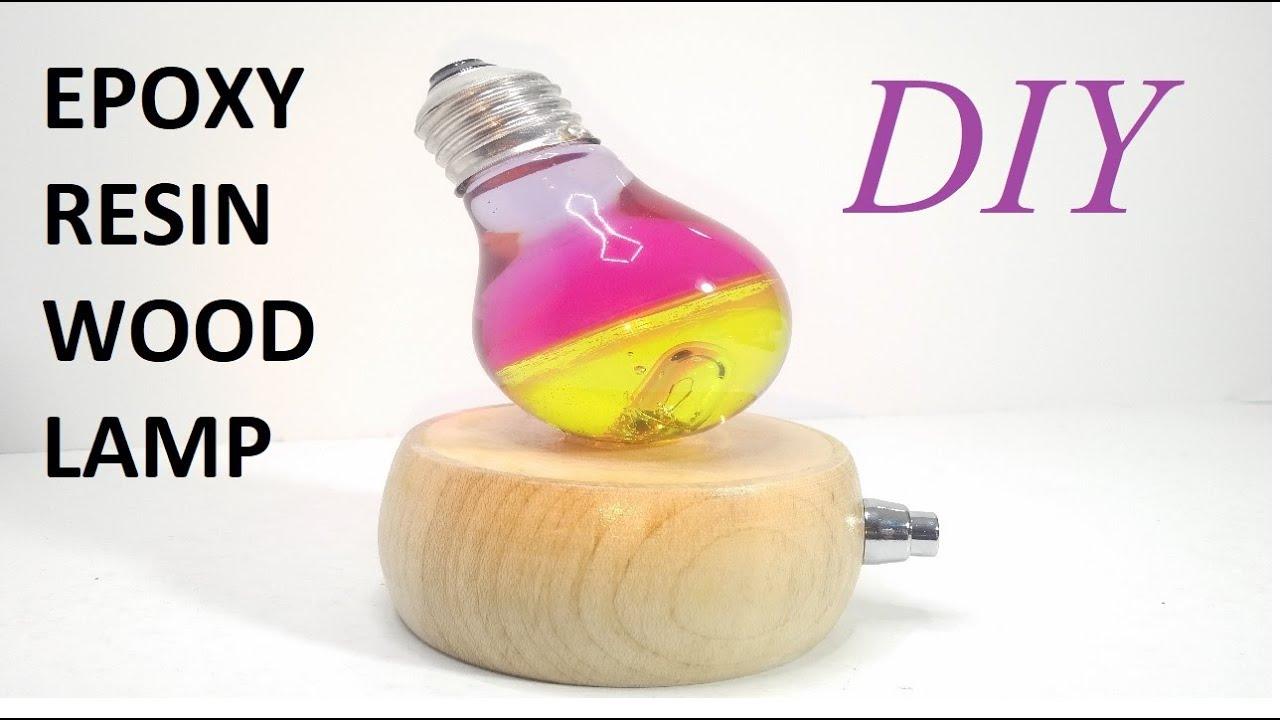 Epoxy Resin Wood Lamp Diy Resin Electric Bulb