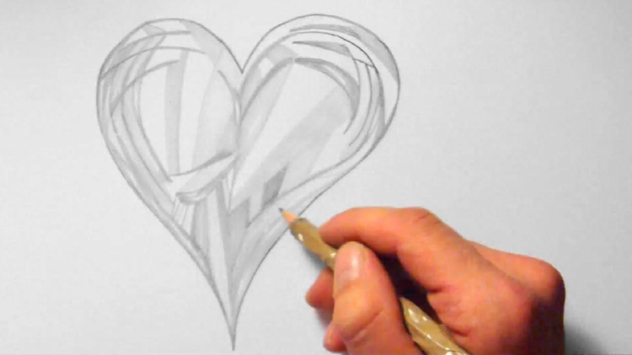 herz abstrakt zeichnen im zeitraffer heart abstract. Black Bedroom Furniture Sets. Home Design Ideas