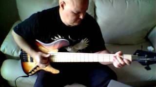 Slap bass demo - Brubaker JXB five string Darrell Craig Harris