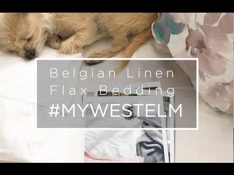 Belgian Flax Linen Bedding #mywestelm