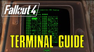 Fallout 4 Complete Terminal Hacking Guide