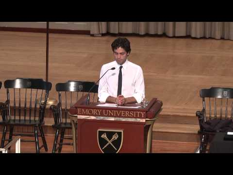 Adrian Grenier Speaks to Emory Seniors