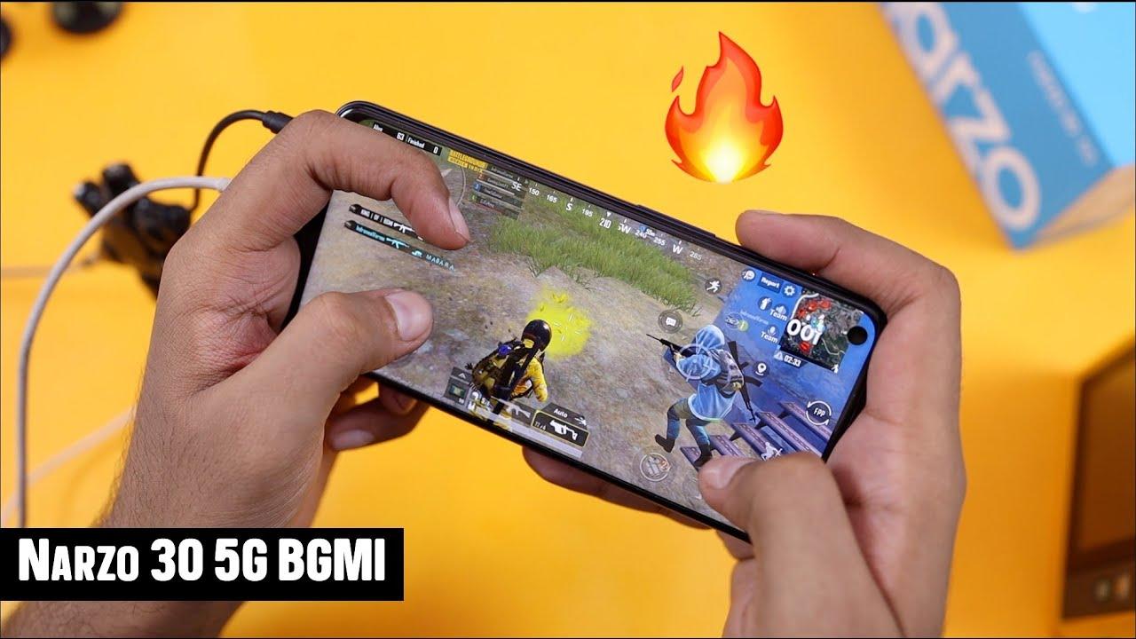 Realme Narzo 30 5G BGMI Gaming Review with FPS & Heating |   Dimensity 700 ka Jalwa 🔥🔥