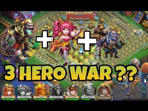 3 HERO SAJA BUAT WAR ?? | KONFLIK KASTIL | CASTLE CLASH ID