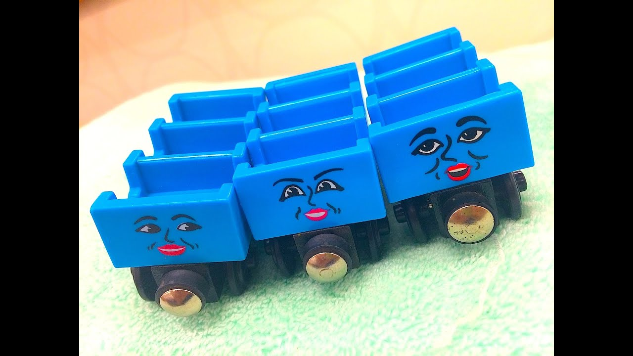 Wooden Railway Max And Monty