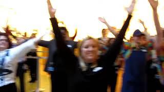 Soldier Surprises Family !! Disney Flash Mob!