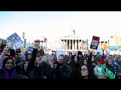The political gets personal at Women's March on London