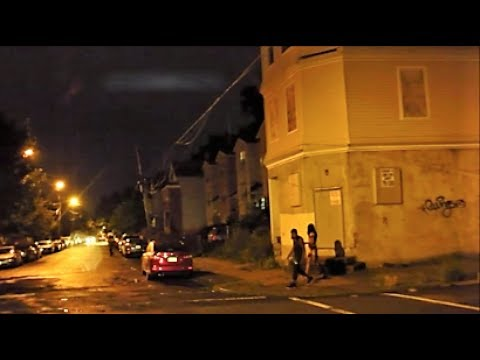 NEWARK NJ HOOD AT NIGHT