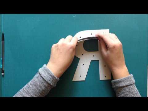 DIY letras con luces led