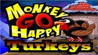Monkey GO Happy Turkeys Fast Walkthrough