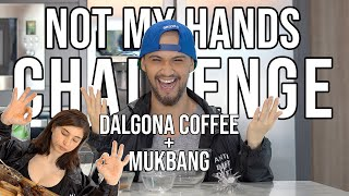 Dalgona Coffee + Mukbang! || Not My Hands Challenge || Billy and Coleen
