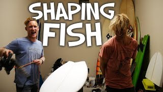 SHAPING A FISH SURFBOARD (the actual shaping process)