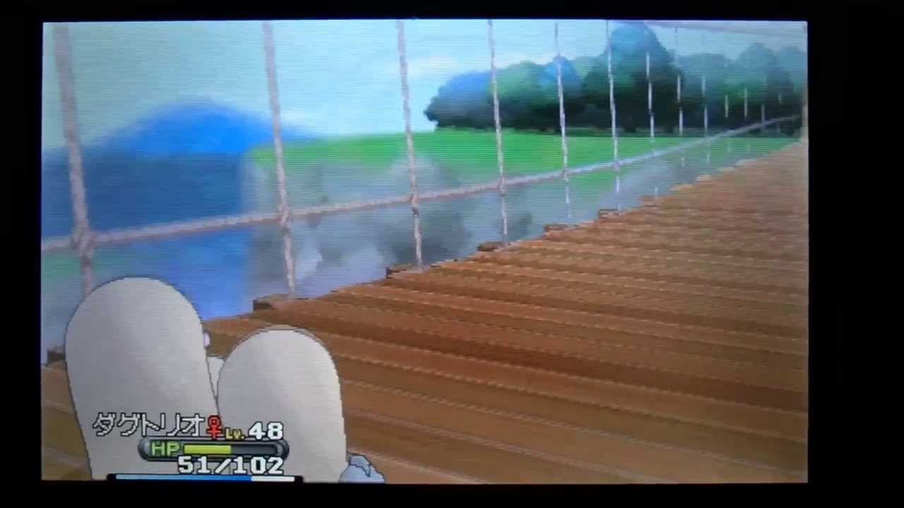 ポケットモンスターXY つり橋であなをほる (8つ目のジム手前)