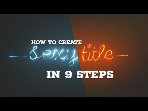 Blender Tutorial: Create Sexy Title in 9 Steps