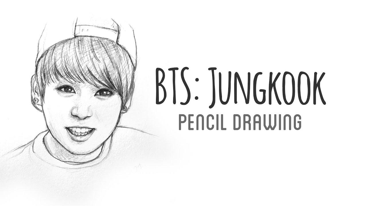 Bts Jungkook Pencil Drawing Youtube