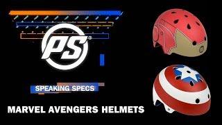 Marvel Iron Man and Captain America helmets - Powerslide Speaking Specs