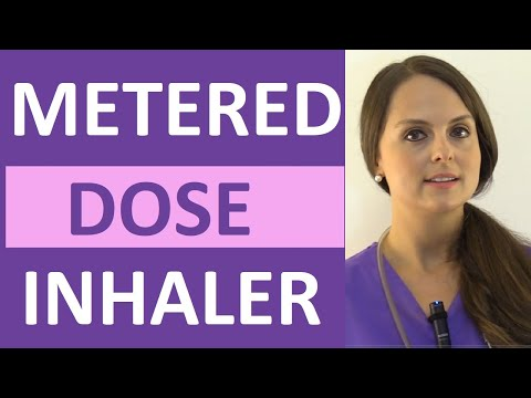 Metered-Dose Inhaler (MDI) Demonstration Without Spacer Nursing  | Open & Closed Mouth Technique