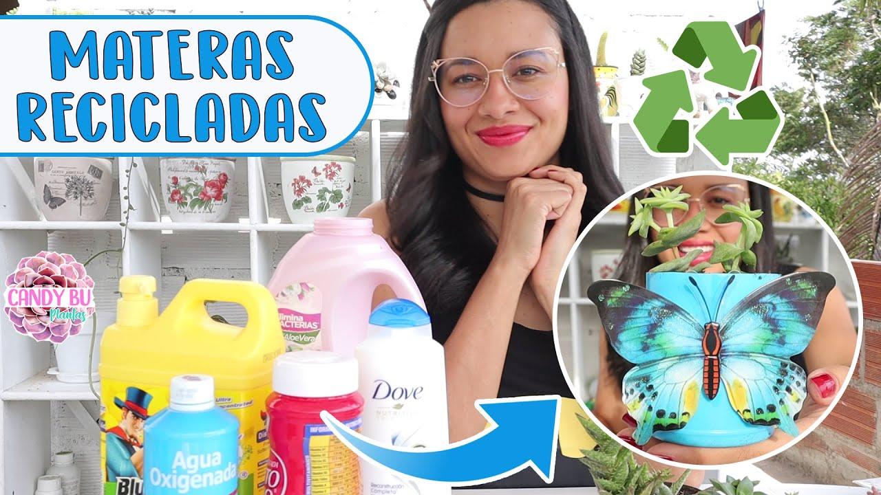 PLANTANDO SUCULENTAS en objetos reciclados│Candy Bu