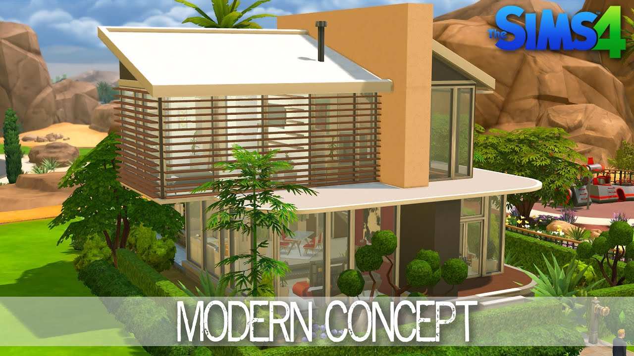 The Sims 4 House Building Modern Concept Speed Build