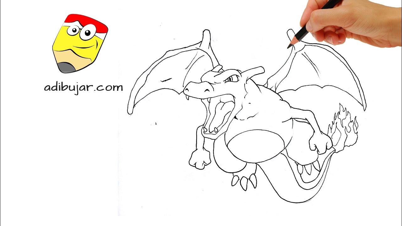 Como Dibujar A Charizard Pokemon A Lapiz Facil Paso A Paso How
