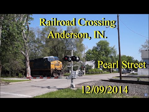 Railroad Crossing: Pearl Street, Anderson, IN. CSX Main Trac