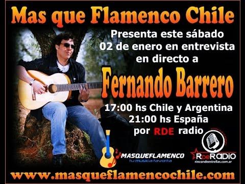 Entrevista a Fernando Barrero en mas que flamenco Chile