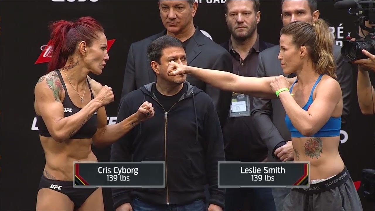 Cris Cyborg vs. Leslie Smith - UFC 198 Weigh-in - YouTube