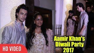 Salman Khan's Sister Arpita Khan with husaband Aayush Sharma at Aamir Khan's Diwali Party 2017