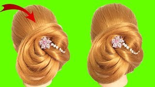 Easy and amazing juda hairstyle with bun stick || Chignon bun || Chinese bun || Cute hairstyles