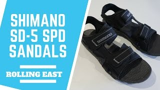 ROLLING EAST: Shimano SD-5 SPD Sandals - Initial Review
