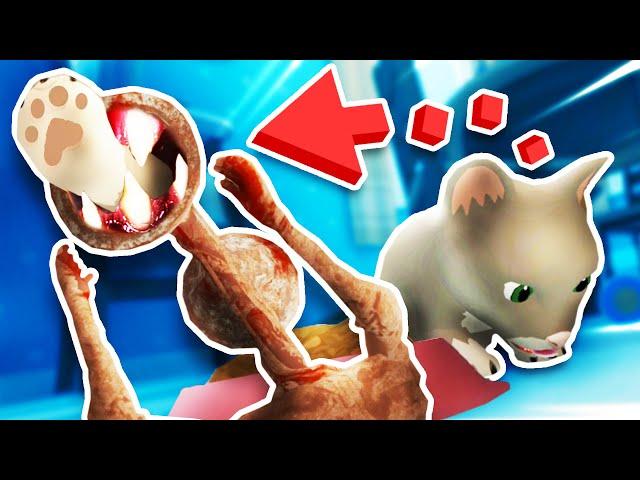 BABY'S CAT got EATEN BY DEMON SIREN HEAD!?!! (Baby Hands VR)