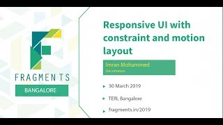 Responsive UI with constraint and motion layout