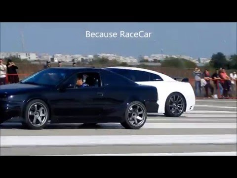 Nissan GTR R35 900 Hp+ vs Fast Opel Calibra Turbo 4x4 - Drag Time - 402 m 1/4