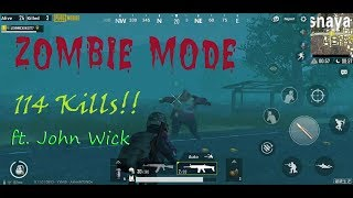 114 ZOMBIE KILLS ft. John Wick - PUBG Mobile 0.11 Survive Till Dawn Gameplay!!!