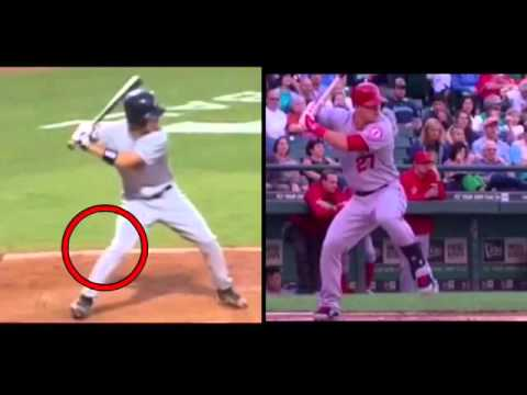 Mike Trout High School Swing vs. MLB Swing