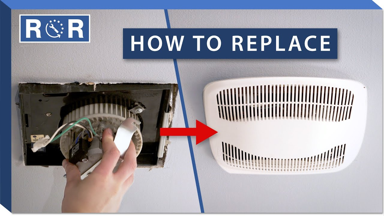 bathroom fan motor repair and replace