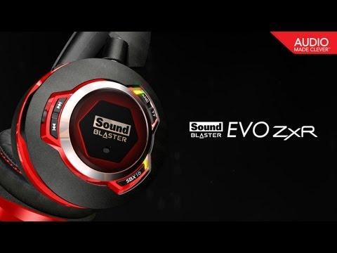 Enjoy the Sound Blaster EVO ZxR Wireless Headset with NFC