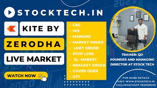Zerodha Tutorial 2020 -Zerodha Kite Platform -Buy, Sell & GTT order By Zerodha- Live Demo in English
