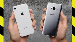iPhone 8 vs Galaxy S8 Drop Test! Strongest Glass Ever?