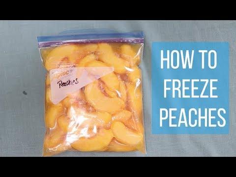 Freezing Peaches. How to Freeze Peaches the Easy Way