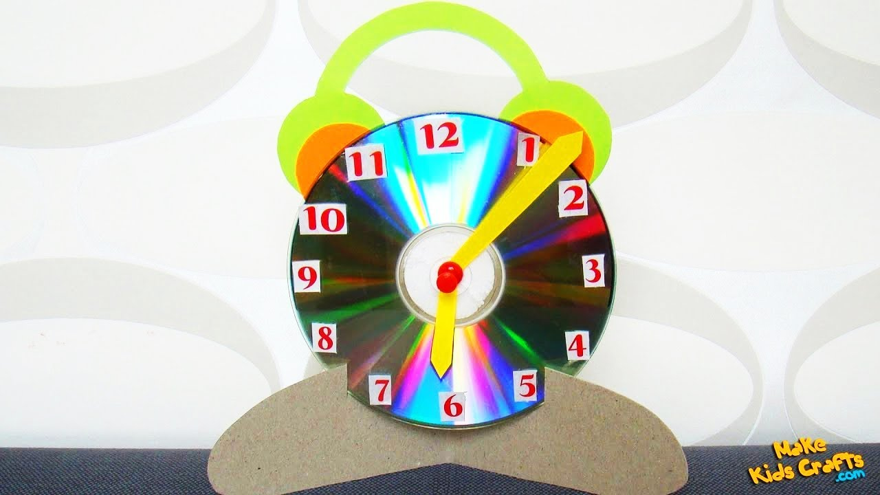 Clock kids crafts youtube for Craft model with waste material