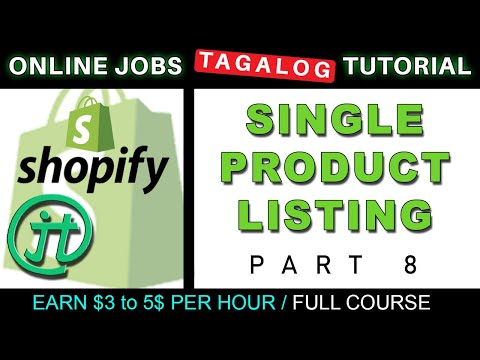 Shopify Single Listing Tutorial Online Jobs at Home Virtual Assistant Job Philippines Tagalog thumbnail