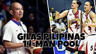 GILAS PILIPINAS 14-MAN POOL LINEUP FOR 4TH WINDOW OF FIBA WORLD CUP QUALIFIERS!