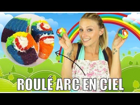 ♡•-recette-gÂteau-roulÉ-arc-en-ciel-|-rainbow-rolls-•♡