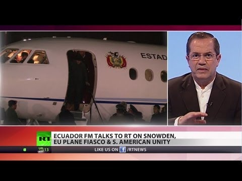Snowden Asylum: Ecuador FM slams Morales jet fiasco, urges more nations to aid leaker