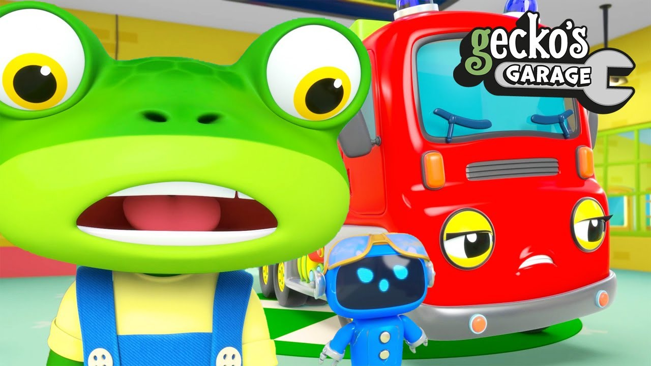 Fiona Fire Truck's Water Chaos!|BRAND NEW Gecko's Garage|Funny Cartoon For Kids|Toddler Fun Learning