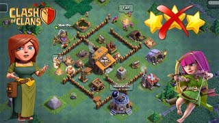 clash of clans builder hall 3 base - Coc best bh3 base -builder hall 3 anti 3 star base