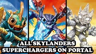 Skylanders Imaginators - All Skylanders Superchargers & All Vehicles on Portal
